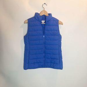 J. Crew Mountain Periwinkle Blue Puffer Vest XS